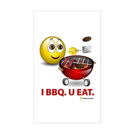 I BBQ. U EAT. Rectangle Sticker