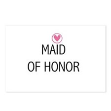Hearts Maid of Honor Postcards (Package of 8)