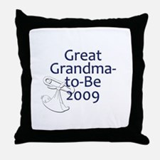 Great Grandma-to-Be 2009 Throw Pillow