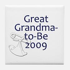 Great Grandma-to-Be 2009 Tile Coaster