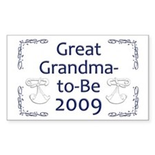 Great Grandma-to-Be 2009 Rectangle Decal