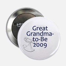 "Great Grandma-to-Be 2009 2.25"" Button"