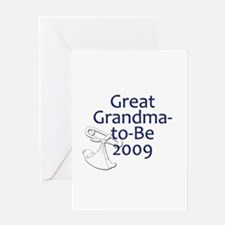 Great Grandma-to-Be 2009 Greeting Card
