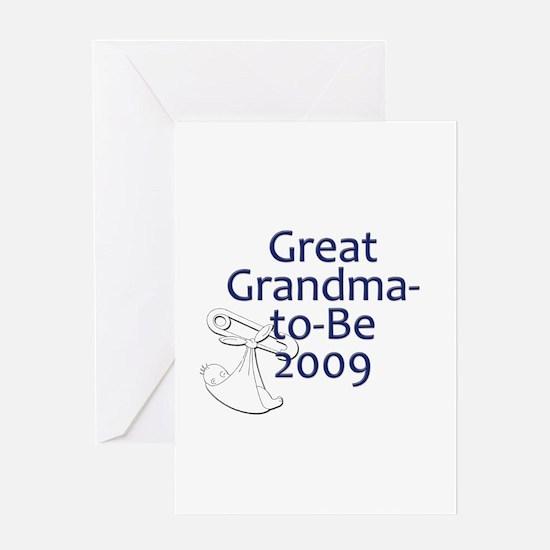Great Grandma-to-Be 2009 Greeting Card