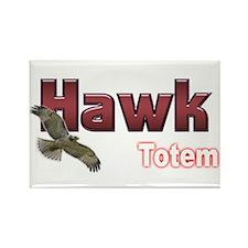 Hawk Rectangle Magnet