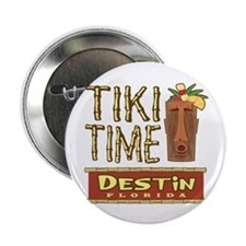 "Destin Tiki Time - 2.25"" Button"