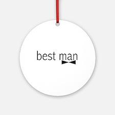 Bow Tie Best Man Ornament (Round)