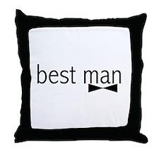 Bow Tie Best Man Throw Pillow