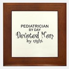 Pediatrician Devoted Mom Framed Tile
