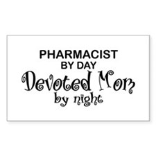 Pharmacist Devoted Mom Rectangle Decal