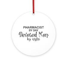 Pharmacist Devoted Mom Ornament (Round)