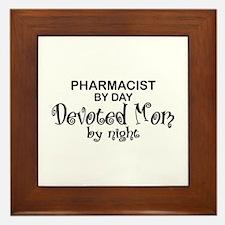 Pharmacist Devoted Mom Framed Tile
