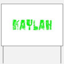 Kaylah Faded (Green) Yard Sign