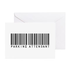 Parking Attendant Barcode Greeting Cards (Pk of 20