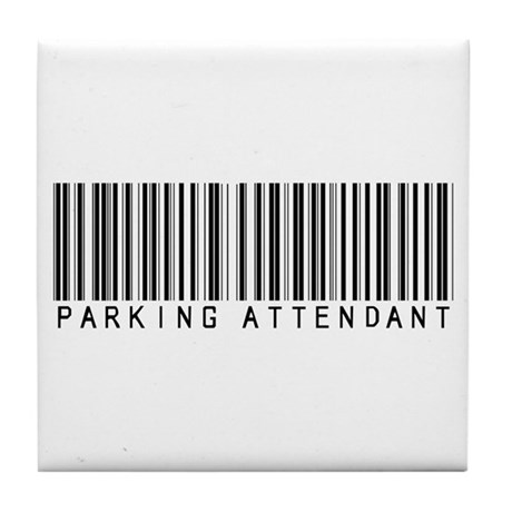 Parking Attendant Barcode Tile Coaster