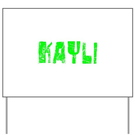 Kayli Faded (Green) Yard Sign