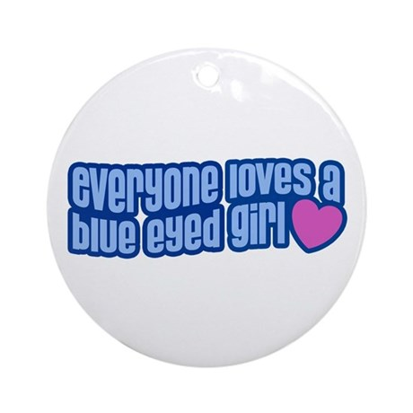 Blue Eyed Girl Ornament (Round)