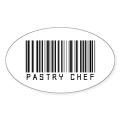 Pastry Chef Barcode Oval Decal