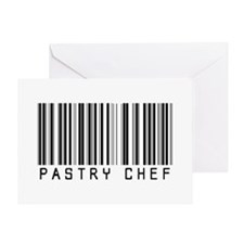 Pastry Chef Barcode Greeting Card