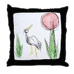 Hanafuda - January -  Throw Pillow