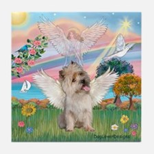 Cloud Angel 2/Cairn Terrier (w) Tile Coaster