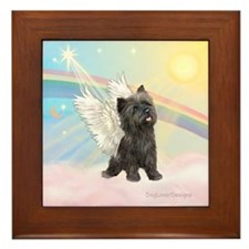 Clouds/Cairn Terrier Framed Tile