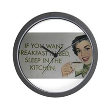 Breakfast in bed Gifts Wall Clock