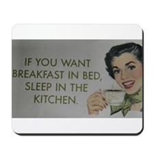 Breakfast in bed Gifts Mousepad