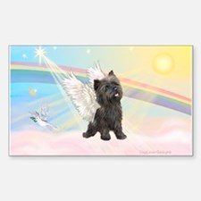 Angel / Cairn Terrier (brin) Rectangle Decal