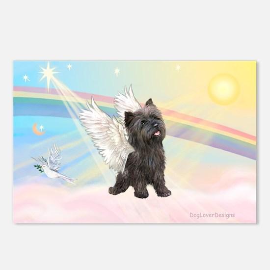 Angel / Cairn Terrier (brin) Postcards (Package of