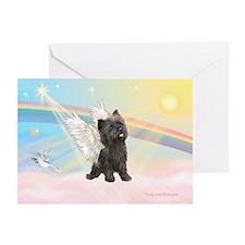 Angel / Cairn Terrier (brin) Greeting Card