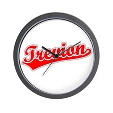 Retro Trevion (Red) Wall Clock