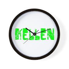 Kellen Faded (Green) Wall Clock