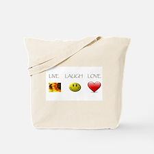 Live Laugh Love Slide Tote Bag