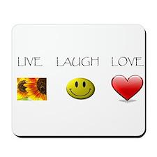 Live Laugh Love Slide Mousepad