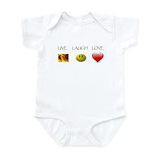 Live Laugh Love Slide Infant Bodysuit