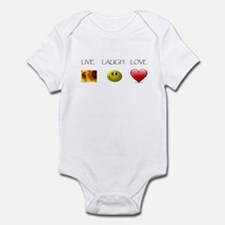 Live Laugh Love Slide Infant Bodysuit