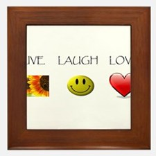 Live Laugh Love Slide Framed Tile