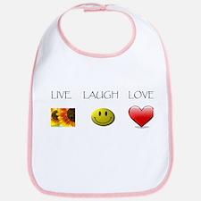Live Laugh Love Slide Bib