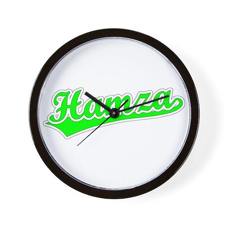 Retro Hamza (Green) Wall Clock
