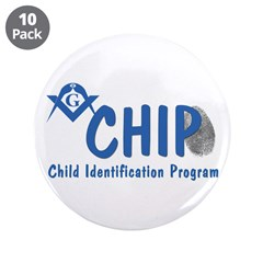 "Masonic CHIP 3.5"" Button (10 pack)"