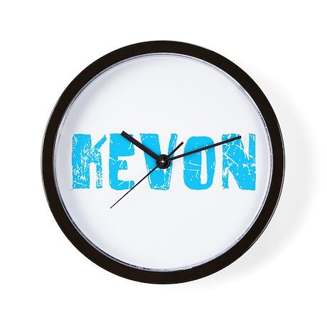 Kevon Faded (Blue) Wall Clock
