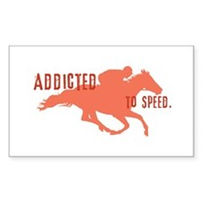 Race Horse Rectangle Decal