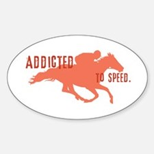 Race Horse Oval Decal
