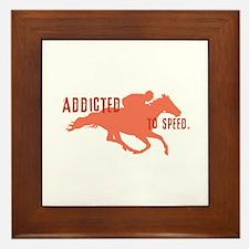 Race Horse Framed Tile