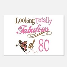 Fabulous 80th Postcards (Package of 8)