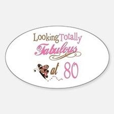 Fabulous 80th Oval Decal