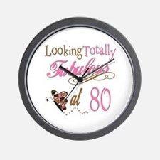Fabulous 80th Wall Clock