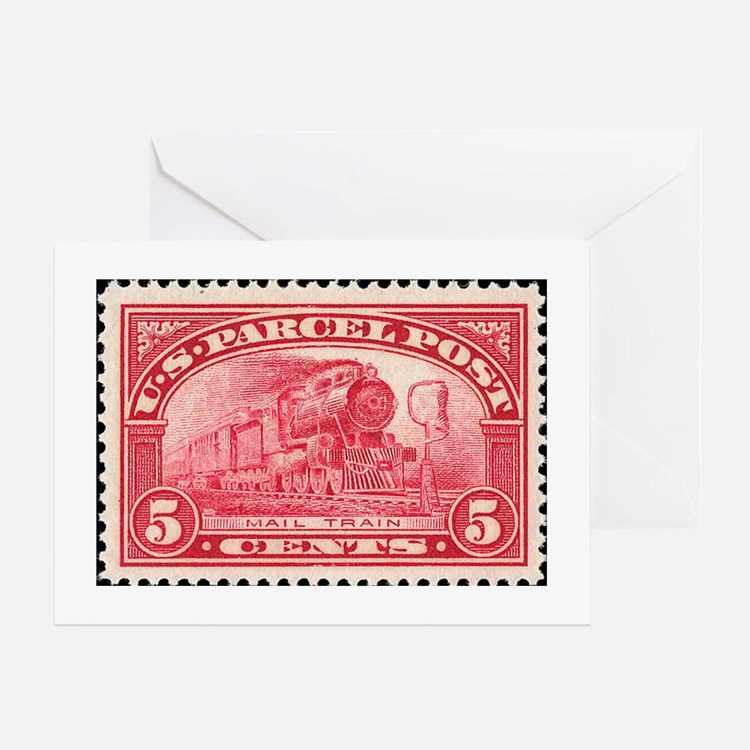 Cute Stamp collecting Greeting Card