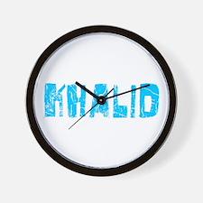 Khalid Faded (Blue) Wall Clock
